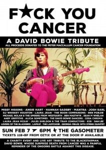 Fuck you cancer david bowie tribute