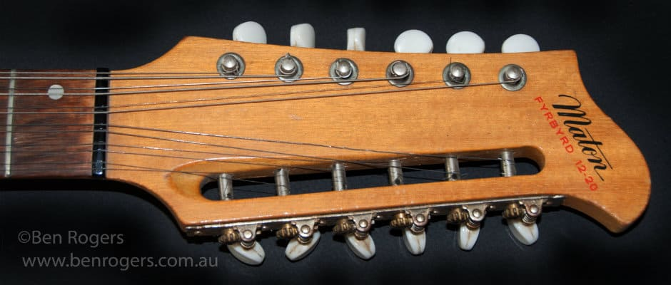 Vintage Guitar Scene Twelve String With Tremolo 1965 Maton Fyrbyrd 12 20