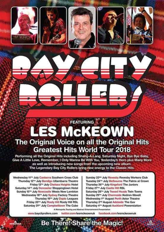 Scene News: BAY CITY ROLLERS Featuring Les McKeown Announce Australian and NZ Tour!