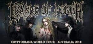Scene News: Don't miss CRADLE OF FILTH's Cryptoriana Australian Tour next month!