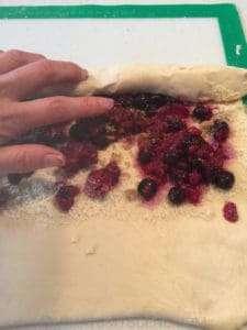 Recipe Scene: Blueberry Scrolls