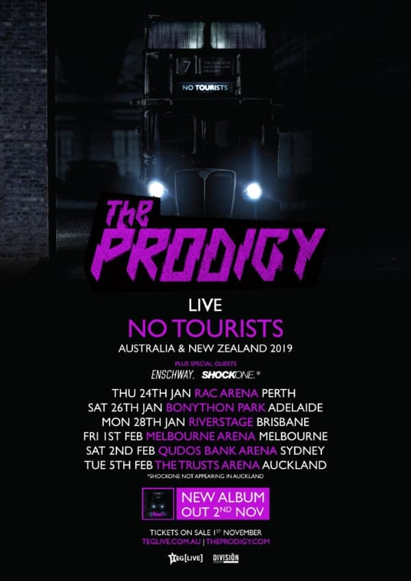 Scene News: 🔥 The PRODIGY are starting fires with Australian & New Zealand Tour Announcements! 🔥