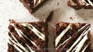 Recipe Scene: Salted Caramel Cream Cheese Swirl Brownies