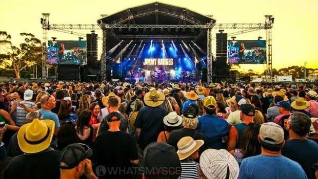 Snap Scene: Jimmy Barnes - Red Hot Summer - Mornington Racecourse, Melbourne 19th Jan 2019