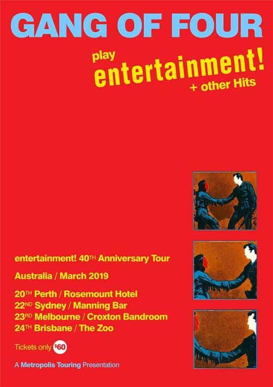 Scene News: Gang Of Four Australian and NZ Tour