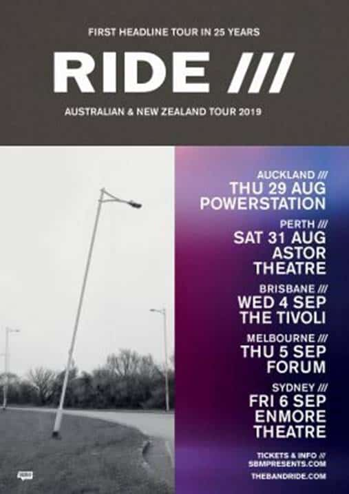 Scene News: RIDE Announces 2019 Australian and New Zealand Tour