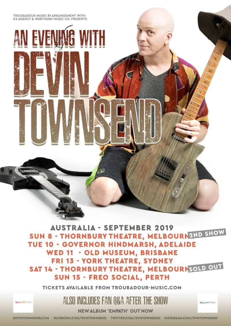 Scene News: Devin Townsend Adds 2nd Melbourne Show To His Australian Acoustic Solo Tour