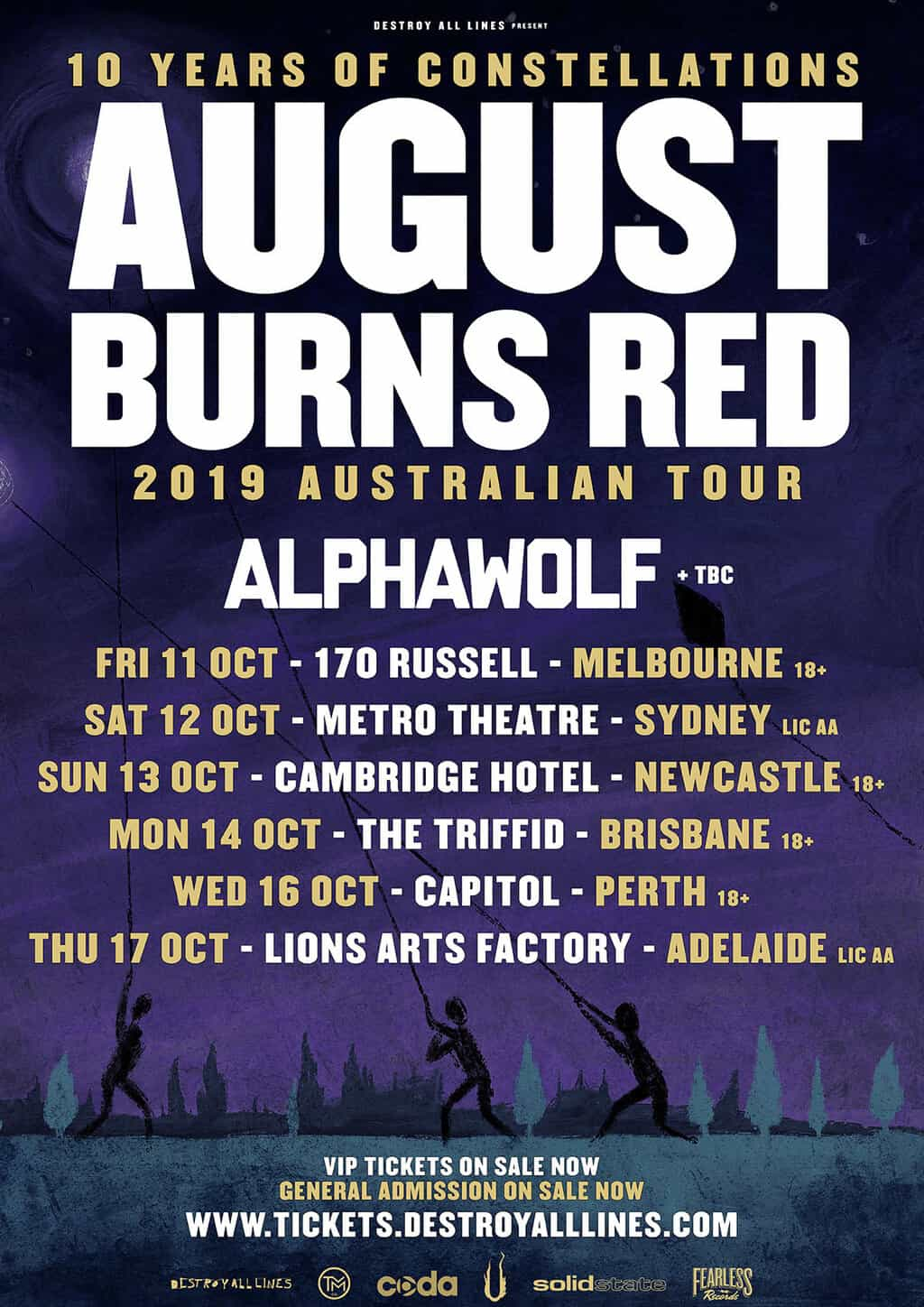 Scene News: August Burns Red Add Alpha Wolf To The 10 Years Of Constellations Australian Tour