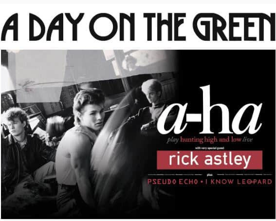 Scene News: a-ha's First Australian Tour in 34 Years With Special Guest Rick Astley at A Day On The Green + Indoor Shows in February-March 2020
