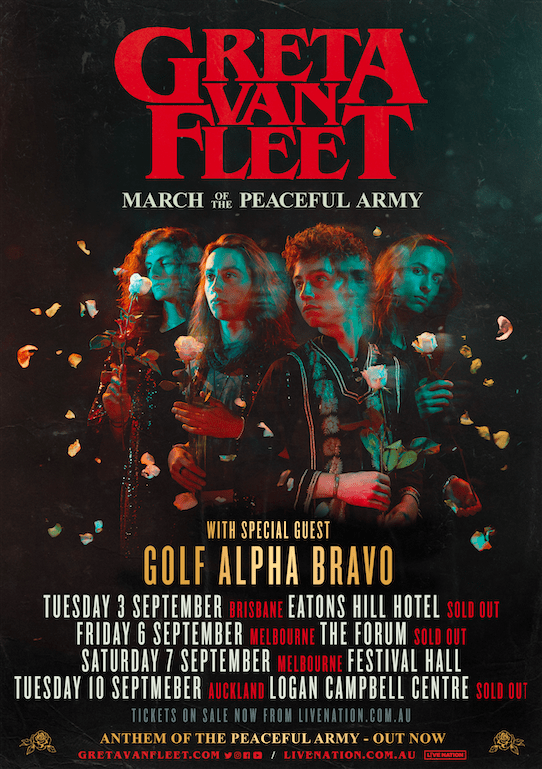 Scene News: Greta Van Fleet Announce Golf Alpha Bravo As Special Guest Across All Australian Tour Dates