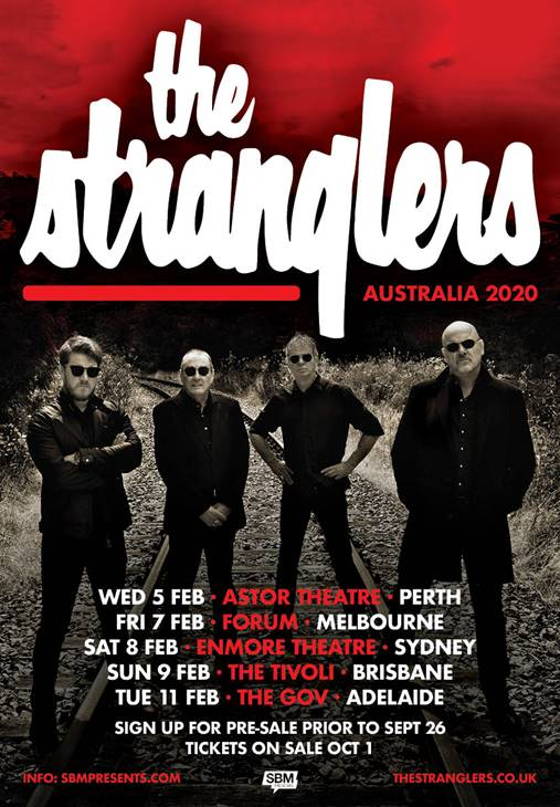 Scene News: THE STRANGLERS Australian Tour starts next week. Tickets selling fast