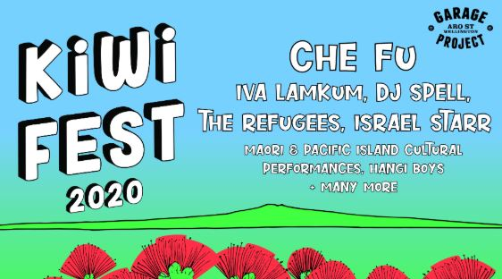 Scene News: SET TIMES for Kiwi Fest 2020, featuring Che-Fu, Israel Starr, Iva Lamkum, DJ SPELL, The Refugees + more!