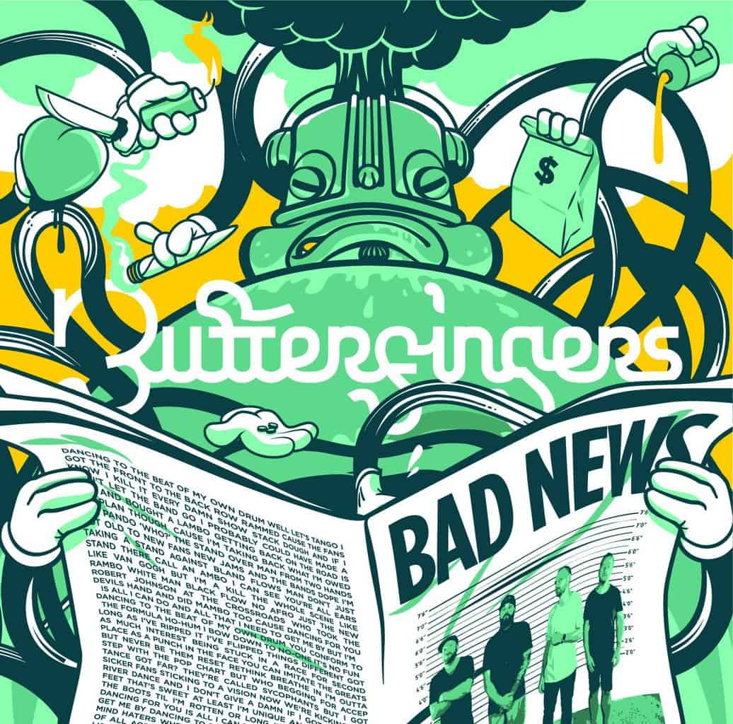 Scene News: Aussie hip hop legends, BUTTERFINGERS, release timely titled new album 'BAD NEWS' on March 30th