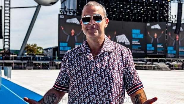 Snap Scene: Robbie Williams World Tour Media Call, Lakeside Stadium, 2020 Grand Prix, 12th March 2020
