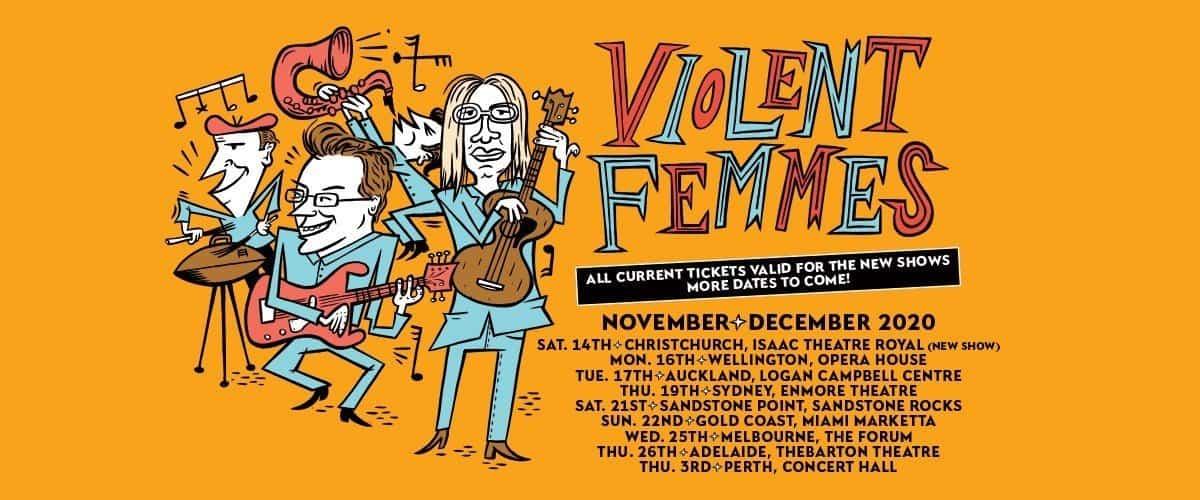 Scene News: Violent Femmes Return To Aussie Shores ~ 2020 tour RESCHEDULED dates announced for December