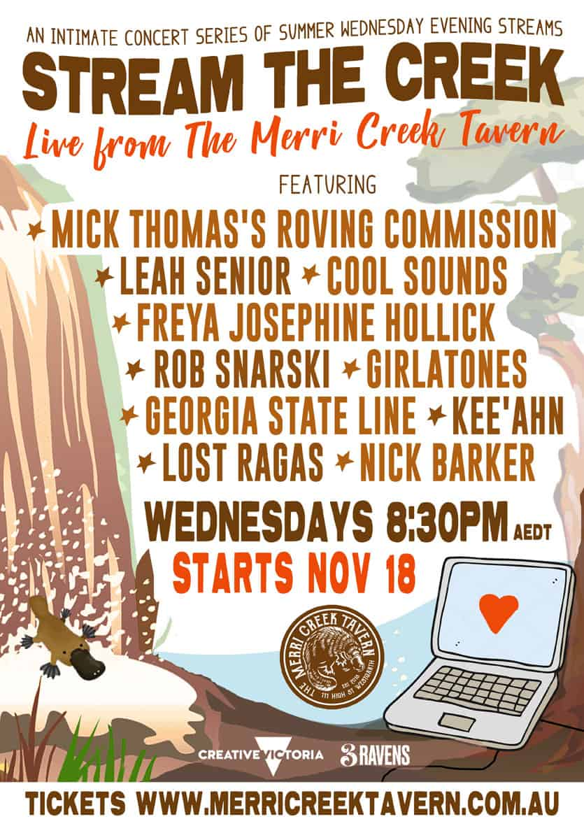 "Scene News: Online Concert Series ""STREAM THE CREEK"" Starting Weekly from November 18th."