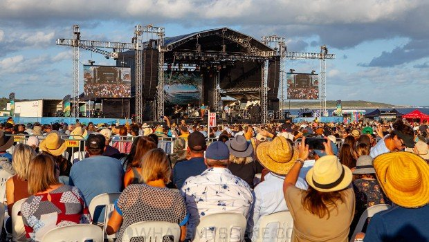 Snap Scene: James Reyne at By the C - Don Lucas Reserve Cronulla, 6th March 2021
