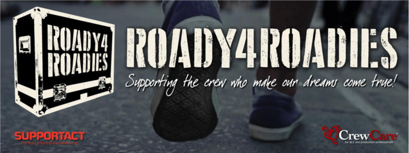 Scene News: CrewCare announce Roady4Roadies' performers NATIONALLY this SUNDAY 11th April