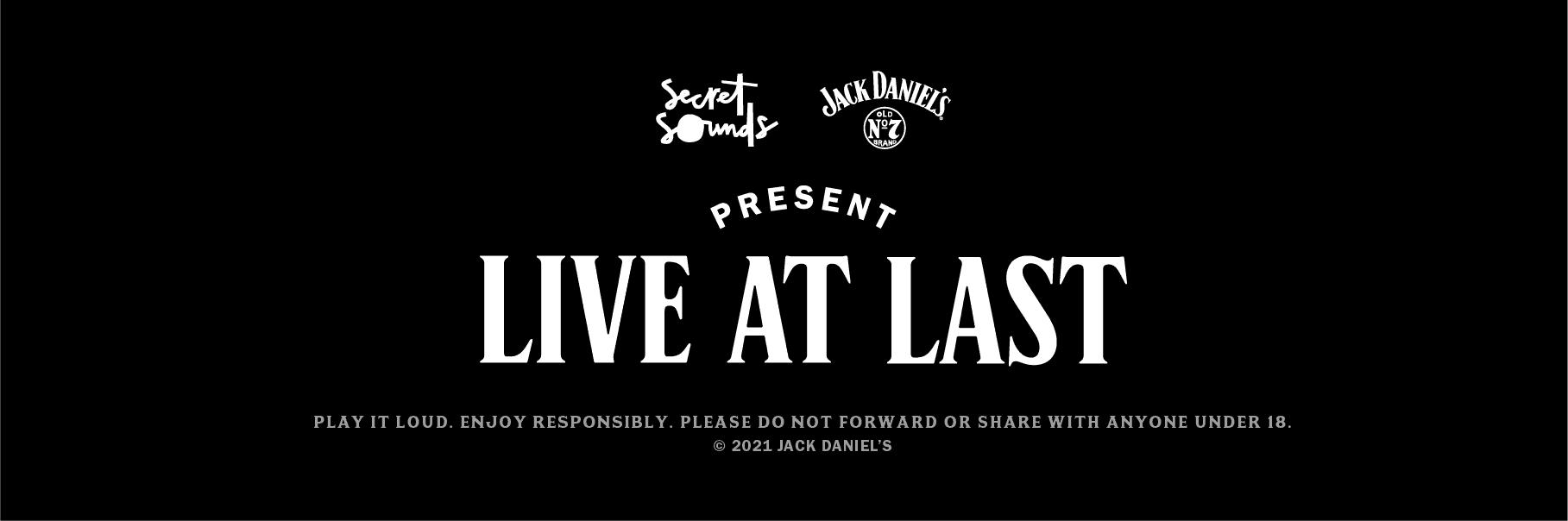 Scene News: Jack Daniel's LIVE AT LAST - Brisbane show announced. Presented by Secret Sounds.