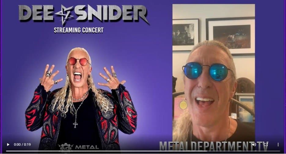 Scene News: DEE SNIDER Announces Live Stream Concert Event on July 29 ahead of his Fifth Full-Length Solo Album, Leave A Scar, out July 30 via Napalm Records