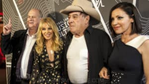 Snap Scene: Australian Music Vault red carpet - Kylie Minogue, Tina Arena, Molly Meldrum, Arts Centre Melbourne, 18th December 2017
