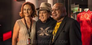 Snap Scene: Australian Music Vault media call - Archie Roach, Michael Gudinski, Molly Meldrum, Arts Centre Melbourne, 18th December 2017