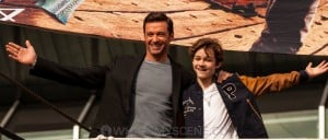 Snap Scene: Pan media call - Hugh Jackman & Levi Miller, Polly Woodside, Melbourne. 3rd Septmber 2015