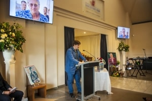 Andrew 'Greedy' Smith's funeral service, Maquarie Park 9th December 2019 by Mandy Hall-12
