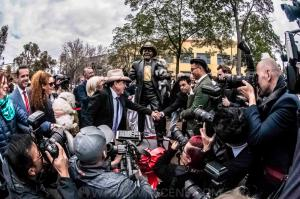 Molly Meldrum's statue unveiling