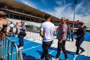 Robbie Williams World Tour Media Call, Lakeside Stadium, 2020 Grand Prix, 12th March 2020 by Mandy Hall (17 of 25)
