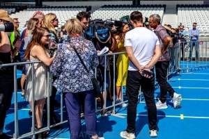 Robbie Williams World Tour Media Call, Lakeside Stadium, 2020 Grand Prix, 12th March 2020 by Mandy Hall (18 of 25)
