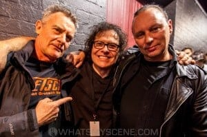 Drummer Frank Celenza with James Gillard & Martin Cilia