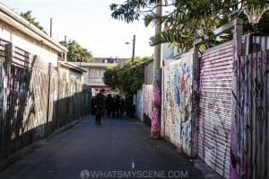 The opening of Rowland S Howard Laneway